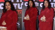 Sameera Reddy looks beautiful with baby bump at GQ Style and Culture Award  | Boldsky