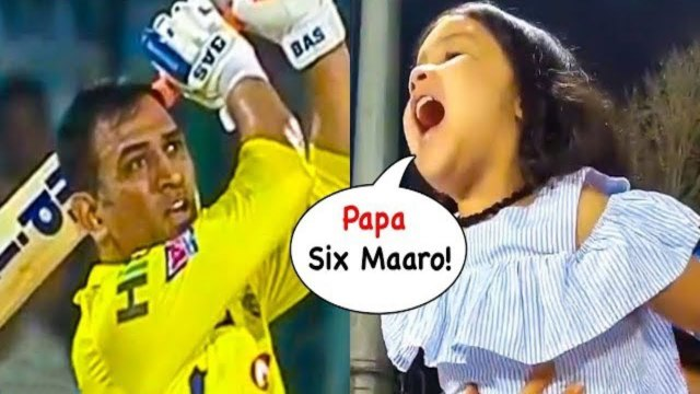 IPL 2019- Ziva Dhoni CHEERING His Father MS Dhoni During IPL Match 2019 - DC vs CSK
