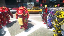 ALL TRANSFORMERS VS IRON MAN HULKBUSTER - Optimus Prime, Bumblebee, Stinger, Lockdown, Drift