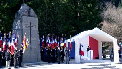 Hommage à la Résistance intérieure aux Glières - Nécropole de Morette