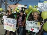 Las mujeres ucranianas inician una marcha por la paz