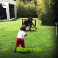 Quand les stars du foot s'entraînent avec leurs enfants