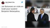 Jair Bolsonaro au Mur des Lamentations avec Benjamin Netanyahu