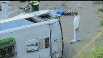 13 muertos y 20 heridos al volcar un autobús en Colombia