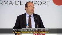 """Miquel Iceta """"despide cordialmente"""" a Puigdemont y a Junqueras"""