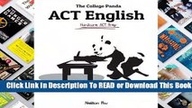 Full version  The College Panda's ACT English: Advanced Guide and Workbook  Review