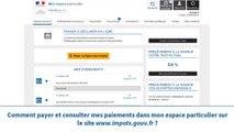 Impots.gouv.fr - Présentation de l'espace particulier : Payer mes impôts
