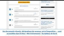 Impots.gouv.fr - Présentation de l'espace particulier : Consulter mes documents