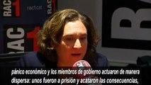 Colau pide explicaciones al Govern de Puigdemont por la DUI