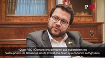 Entrevista Pere Aragonès PSC Comuns
