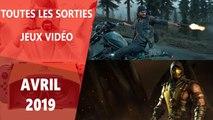 Calendrier des sorties jeux vidéo avril 2019