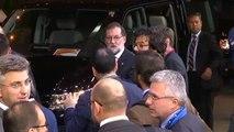 Rajoy elude hablar sobre Cataluña a su salida del Consejo Europeo