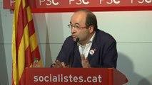 """Iceta: """"No hay discrepancias con el PSOE. Tenemos el objetivo de evitar que se declare unilateralmente la independencia"""""""
