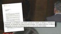 Puigdemont contesta a Rajoy: si se aplica el 155, el Parlament votará la independencia