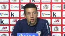 """Mikel Vesga: """"El equipo está con ganas de que llegue el sábado para sacar los tres puntos en casa"""""""
