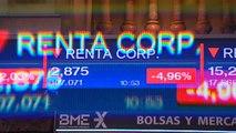 El Ibex 35 cae un 2,85 por ciento hasta los 9.964 puntos por el desafío independentista