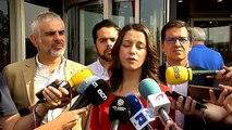 """Arrimadas: """"Puigdemont y Junqueras se han autoinhabilitado"""""""