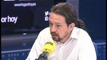 Iglesias cree que la diputada de Podem que retiró las banderas de España debe pedir perdón