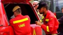 Numerosos efectivos continúan sofocando el incendio en El Hornillo