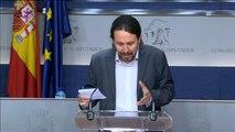 """Pablo Iglesias: """"El PSOE ha cambiado, pero esperamos que termine haciendo una oposición parecida a la nuestra"""""""