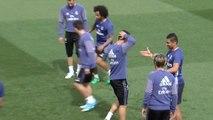 El Madrid prepara el decisivo partido frente al Celta en Balaídos