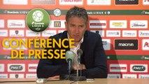 Conférence de presse RC Lens - Havre AC (0-0) : Philippe  MONTANIER (RCL) - Oswald TANCHOT (HAC) - 2018/2019
