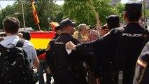 Protesta contra la independencia de Cataluña y la conferencia de Puigdemont en Cibeles