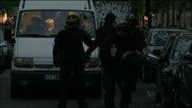 Disturbios en francia con un grupo de manifestantes que logró saltarse el cordón policial en la noche electoral