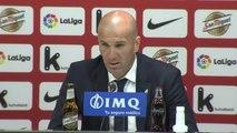 """Zidane: """"Quedan once partidos, somos líderes, pero no significa nada"""""""
