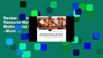 Review  International Human Resource Management: A Multinational Companies Perspective - Monir H.