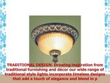 Livex Lighting 856263 Villa Verona 2 Light Verona Bronze Finish Flush Mount with Aged