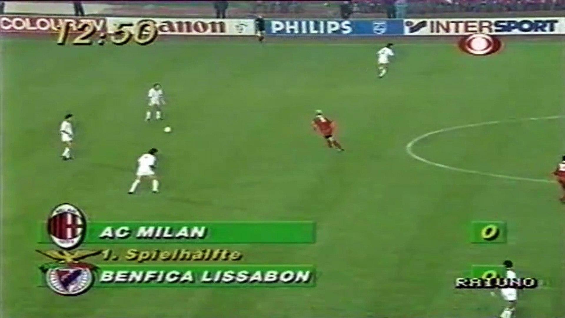 AC Milan 1:0 Benfica ● European Champion Clubs' Cup Final 1989-90 ● First Half