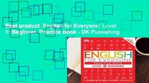 Best product  English for Everyone: Level 1: Beginner, Practice Book - DK Publishing