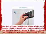 Luxrite LED Light Panel 1x4 FT 45W 5000K Bright White 4725 Lumens 12x48 Inch LED Flat