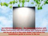Luxrite 9 Inch LED Flush Mount Ceiling Light 18W Black Finish 4000K Cool White 1200
