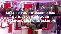 Cette petite blague que Mélanie Page, la femme de Nagui, n'assume pas du tout devant Michel Drucker !