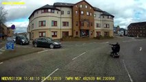 'Kamikaze' Inverness woman zooms around busy roundabout on mobility scooter