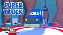 Super Camión es un Super Camión de la Basura y Ayuda a Gary el Camión de la Basura Carl el Camión de Super -