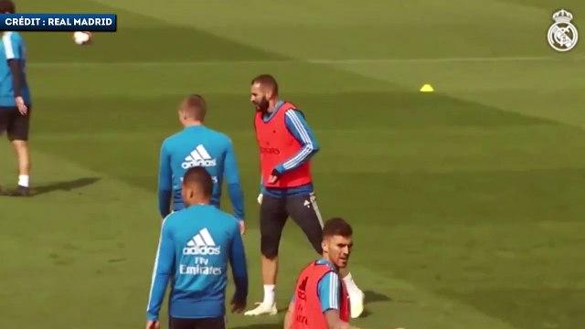 Le crochet dévastateur de Karim Benzema sur Marcelo à l'entraînement