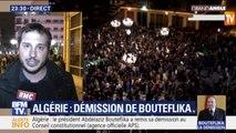 L'allégresse des Algérois après l'annonce de la démission de Bouteflika