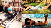 FLOP Actress Minissha Lamba Publicity Stunts publishing GYM Workout & Yoga Video - Biscoot TV