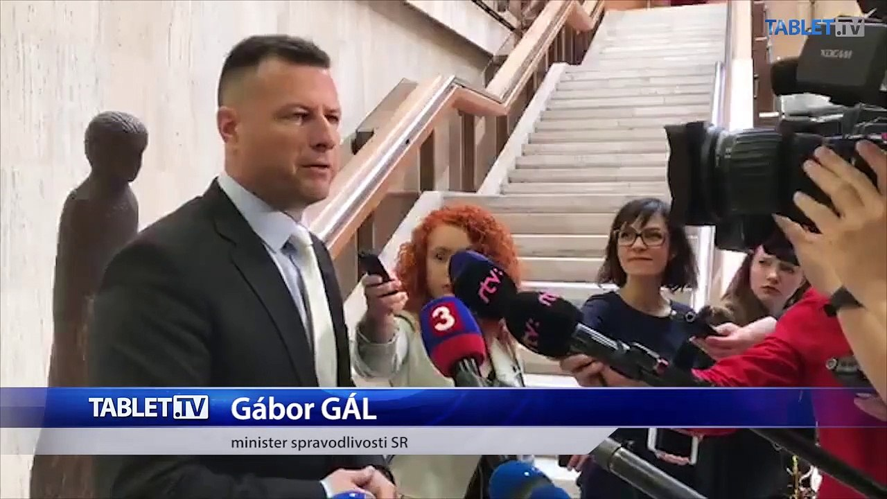 ZÁZNAM: Brífing ministra spravodlivosti G. Gála