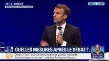 """""""Le risque du débat, c'est l'individualisme, c'est de dire qu'on aura 66 millions de réponses"""": en Bretagne, Emmanuel Macron demande aux citoyens """"un principe de responsabilité"""""""