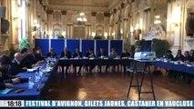Festival d'Avignon : le ministre de l'Intérieur Christophe Castaner en visite dans le Vaucluse