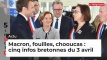 Macron, fouilles, chooucas : cinq infos bretonnes du 3 avril