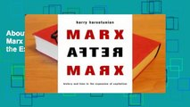 About For Books  Marx After Marx History and Time in the Expansion of Capitalism Complete