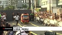Bolt races against a motorcycle taxi and wins