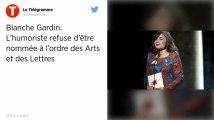L'humoriste Blanche Gardin refuse d'être décorée, accusant Macron de ne pas tenir ses promesses vis-à-vis des SDF