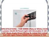 Luxrite LED Light Panel 2x4 FT 72W 3500K Natural White 8150 Lumens 24x48 Inch LED Flat