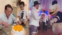 Salman Khan & Salim Khan celebrate Arpita Khan's son Ahil Sharma's Birthday; Watch Video | FilmiBeat